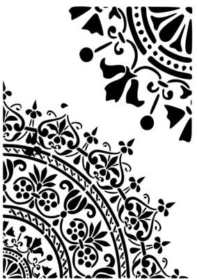 A4 Stencil Filigree 2
