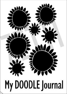 A4 Stencil Journal sunflower