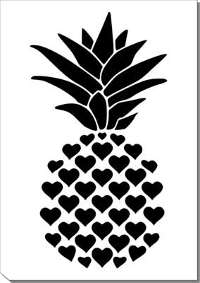 A4 Stencil Love Pineapple