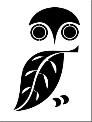 A4 Stencil Owl