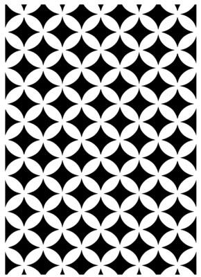 A4 Stencil Pattern circle vintage
