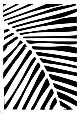 A4 Stencil Palm leaf