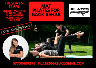 Mat Pilates Tuesdays 11am @ English Martyrs Church Hornchurch