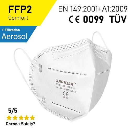 FFP2 Atemschutzmaske - 10er Packung / CE + TÜV-Geprüft