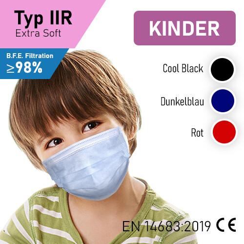Kindermasken - Typ IIR - 50er Packung CE EN 14683:2019