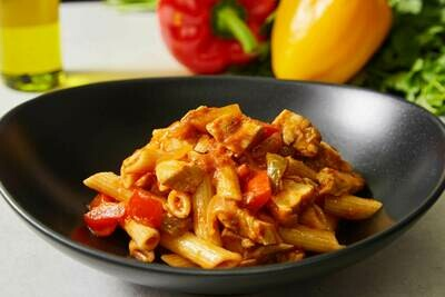 Homemade Chicken Arrabiata Pasta (Available as GF)