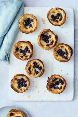 Blueberry Pastel de Nata (Box of 4 or 8)