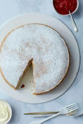 Whole Handmade Victoria Sponge Cake (N) (VG)