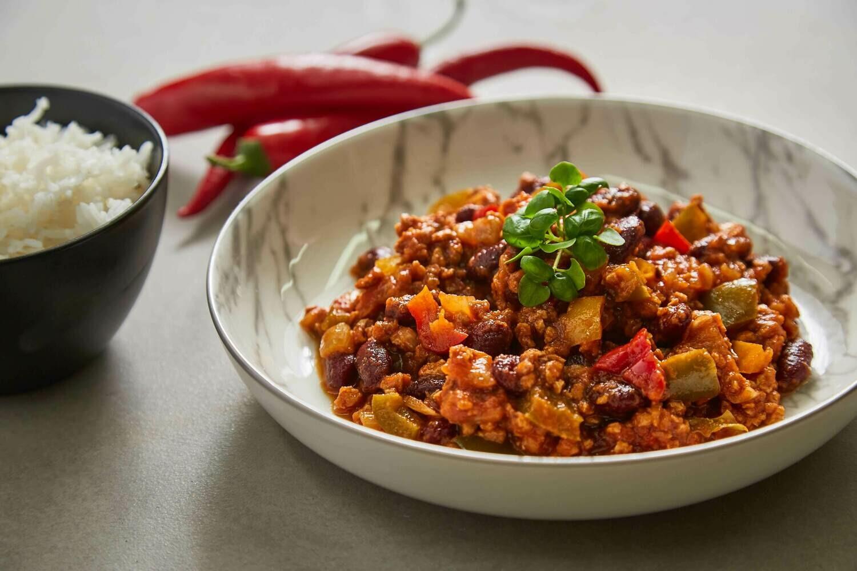 Homemade Vegan Chilli 'Con Carne' (V)