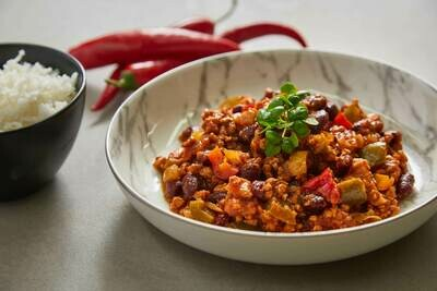 Homemade Vegan Chilli 'Con Carne' (V)