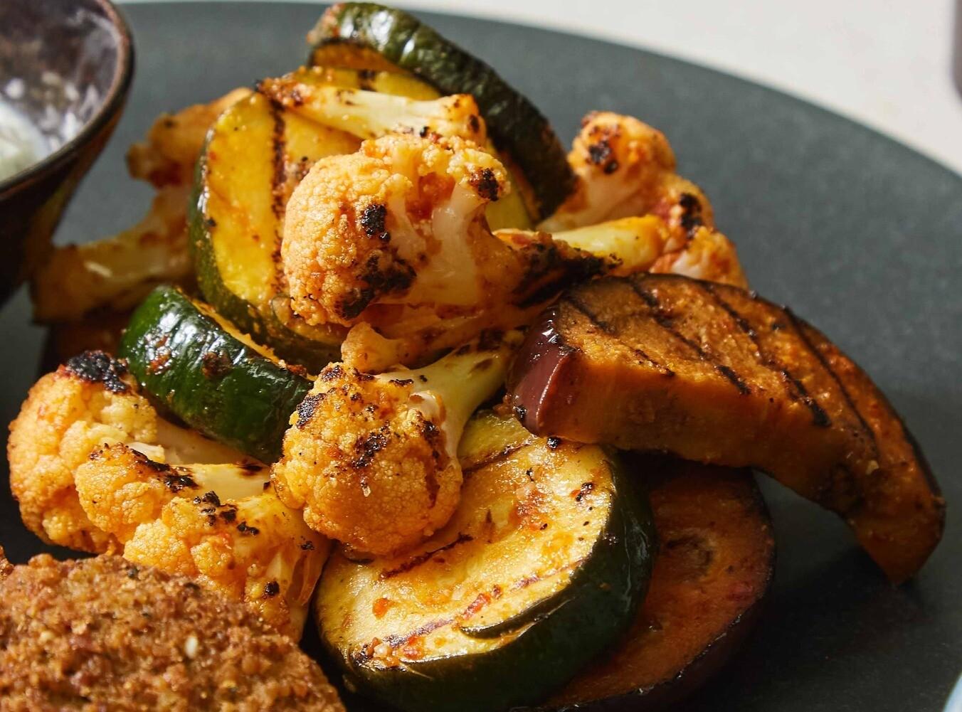 Harissa Roasted Vegetables (V)