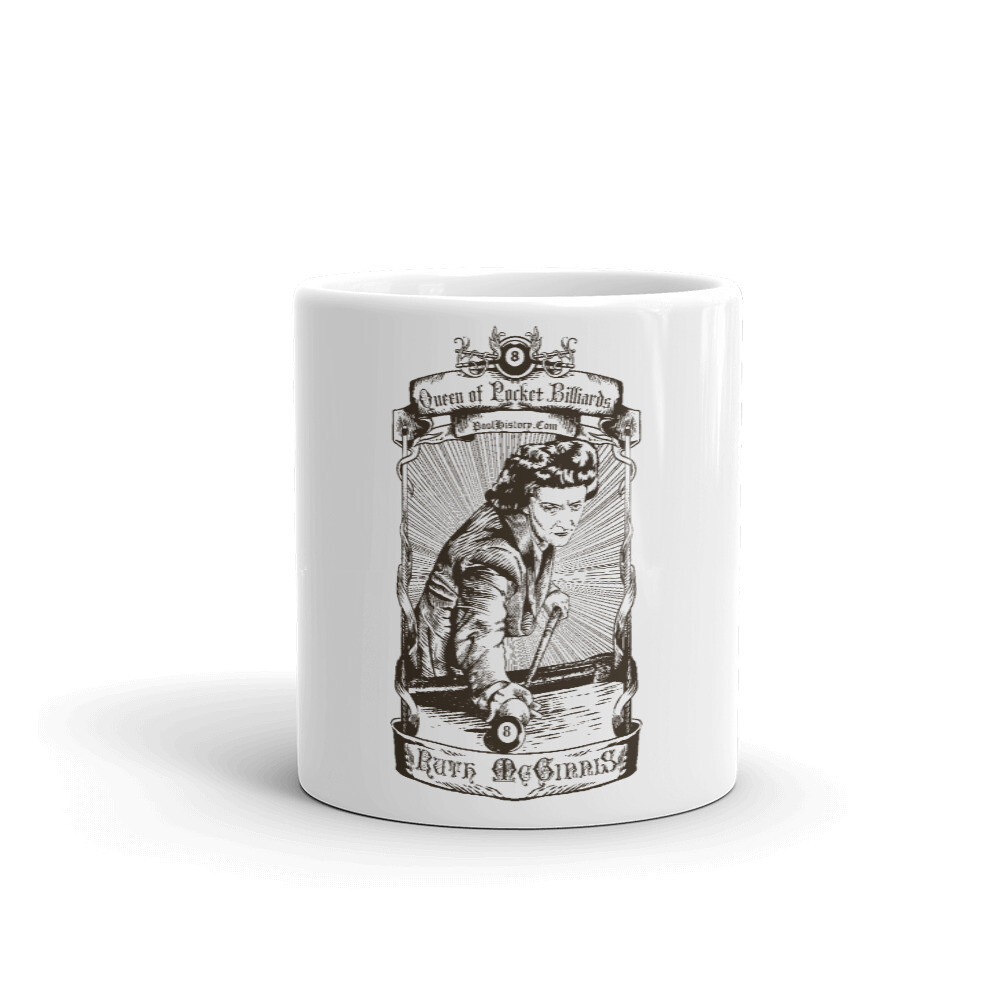 Ruth McGinnis Queen of Pocket Billiards Mug