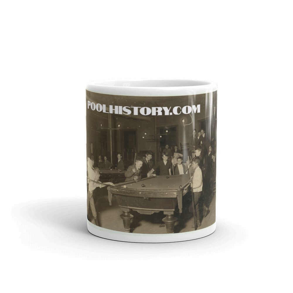 Pool History News Boy Mug