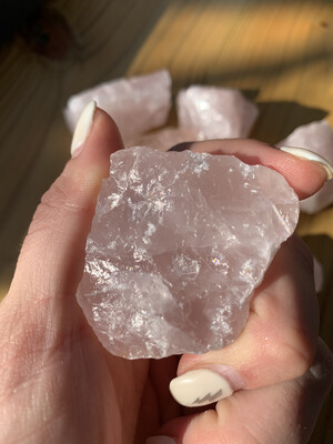 raw brazilian rose quartz