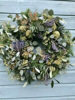 The Classic Blue & Lime Wreath