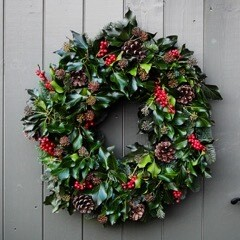 The Classic Holly & Ivy Wreath