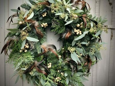 The Luxury Feather Wreath