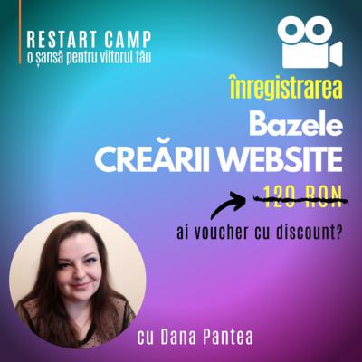 Inregistrarea video a cursului Bazele CREARII UNUI WEBSITE (fara programare)