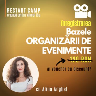 Inregistrarea video a cursului Bazele ORGANIZARII DE EVENIMENTE online si offline