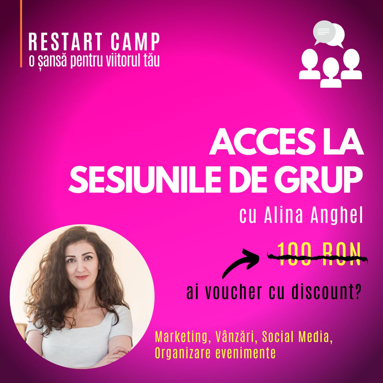 Abonament lunar - acces la sesiunile de grup saptamanale cu Alina Anghel