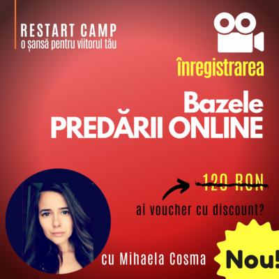 Inregistrarea video a cursului Bazele PREDARII ONLINE