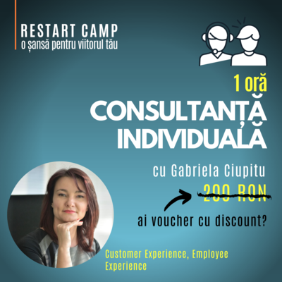 1 ora de consultanta individuala cu Gabriela Ciupitu