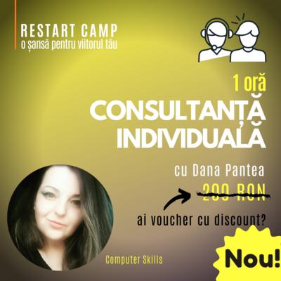 1 ora de consultanta individuala cu Dana Pantea