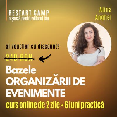 Cursul Bazele ORGANIZARII DE EVENIMENTE online si offline