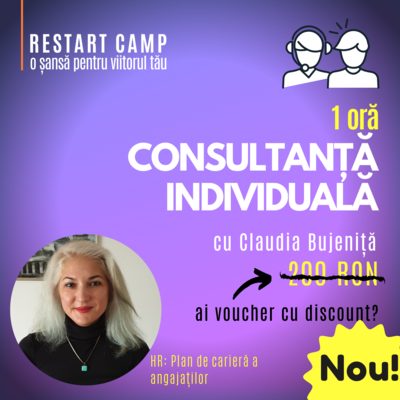 1 ora de consultanta individuala cu Claudia Bujenita