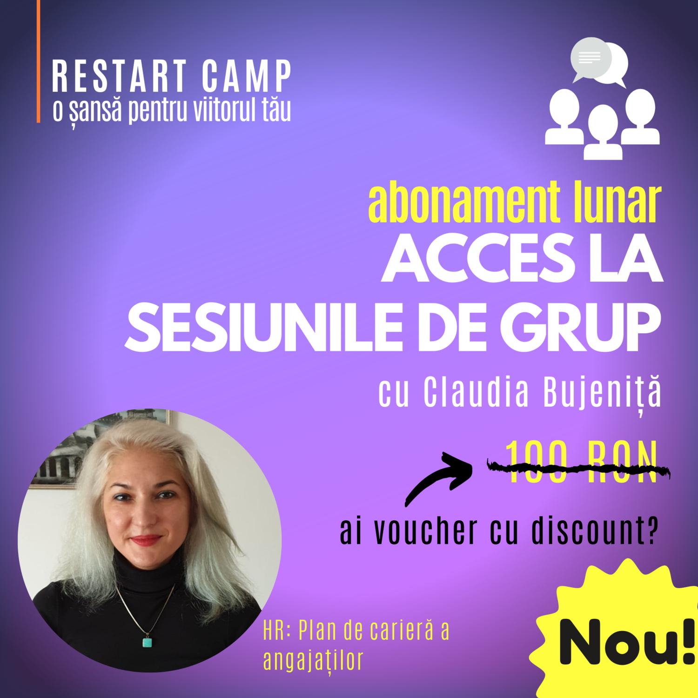 Abonament lunar - acces la sesiunile de grup saptamanale cu Claudia Bujenita