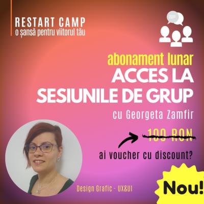 Abonament lunar - acces la sesiunile de grup saptamanale cu Georgeta Zamfir