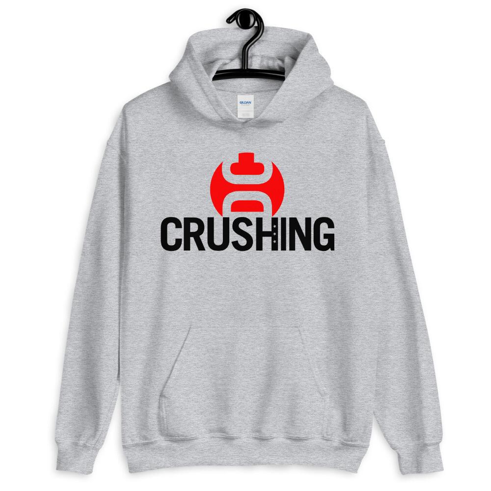 CrushingDC Hoodie (Red/Black Print)