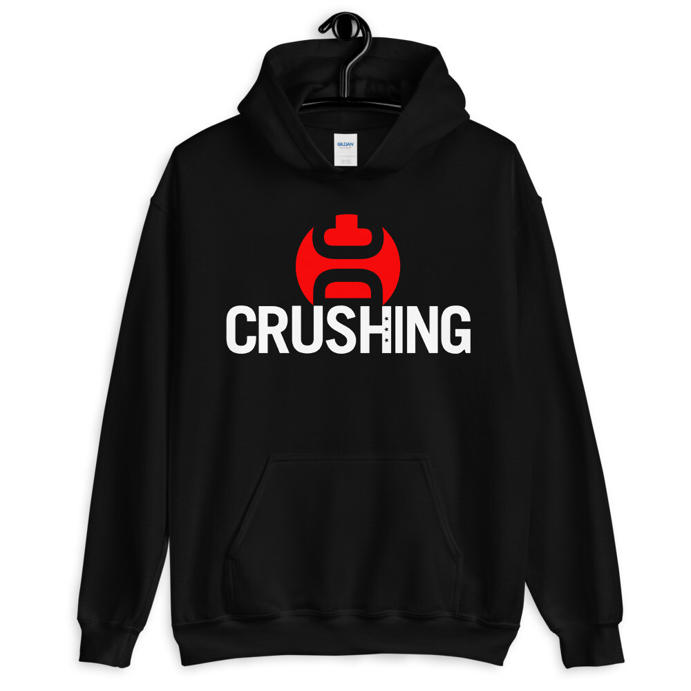 CrushingDC Hoodie (Red/White Print)