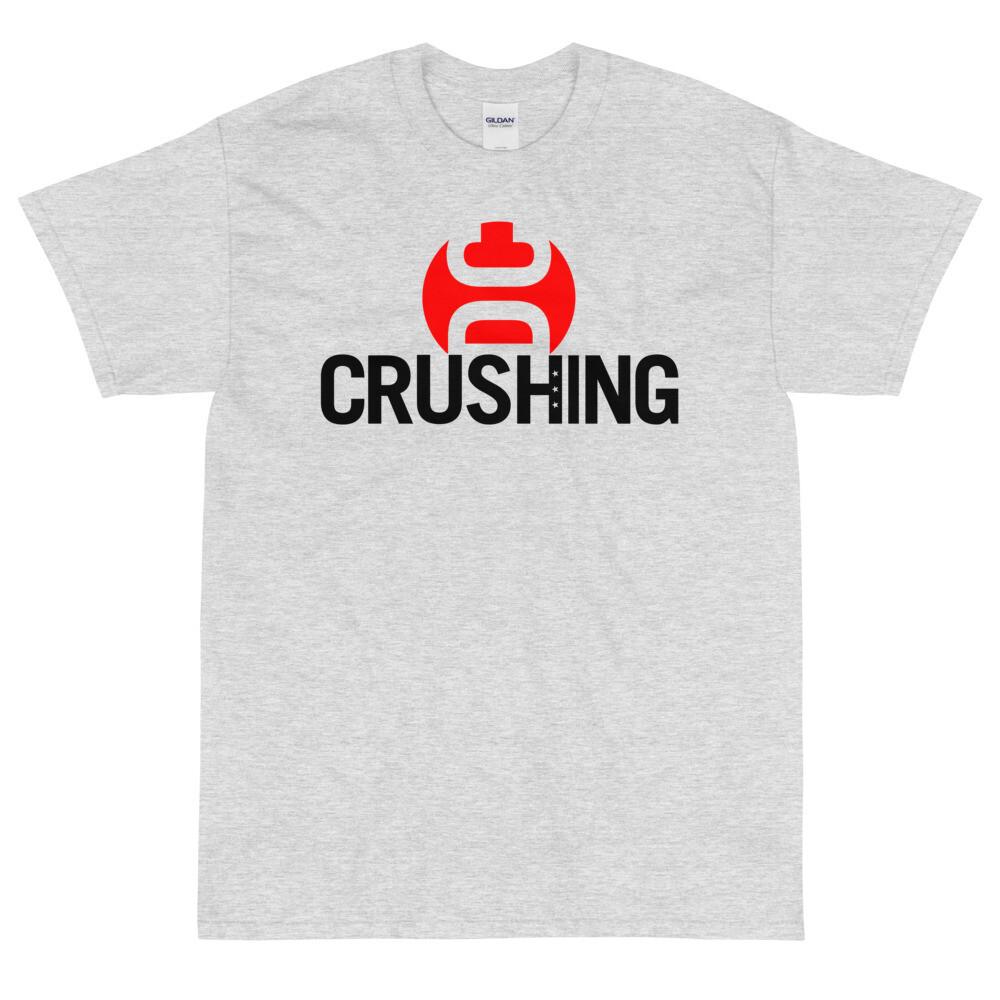 Crushing DC Short Sleeve T-Shirt (Heavyweight) Black Print