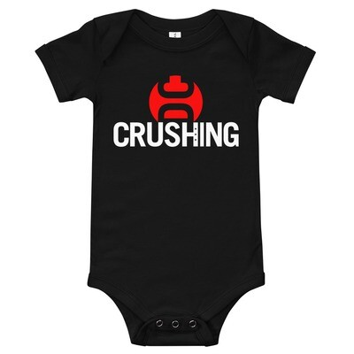 CrushingDC Onesie (White Print)