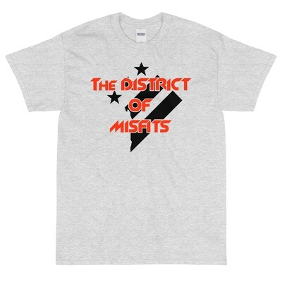 District of Misfits Short Sleeve T-Shirt (Heavyweight) Black Print
