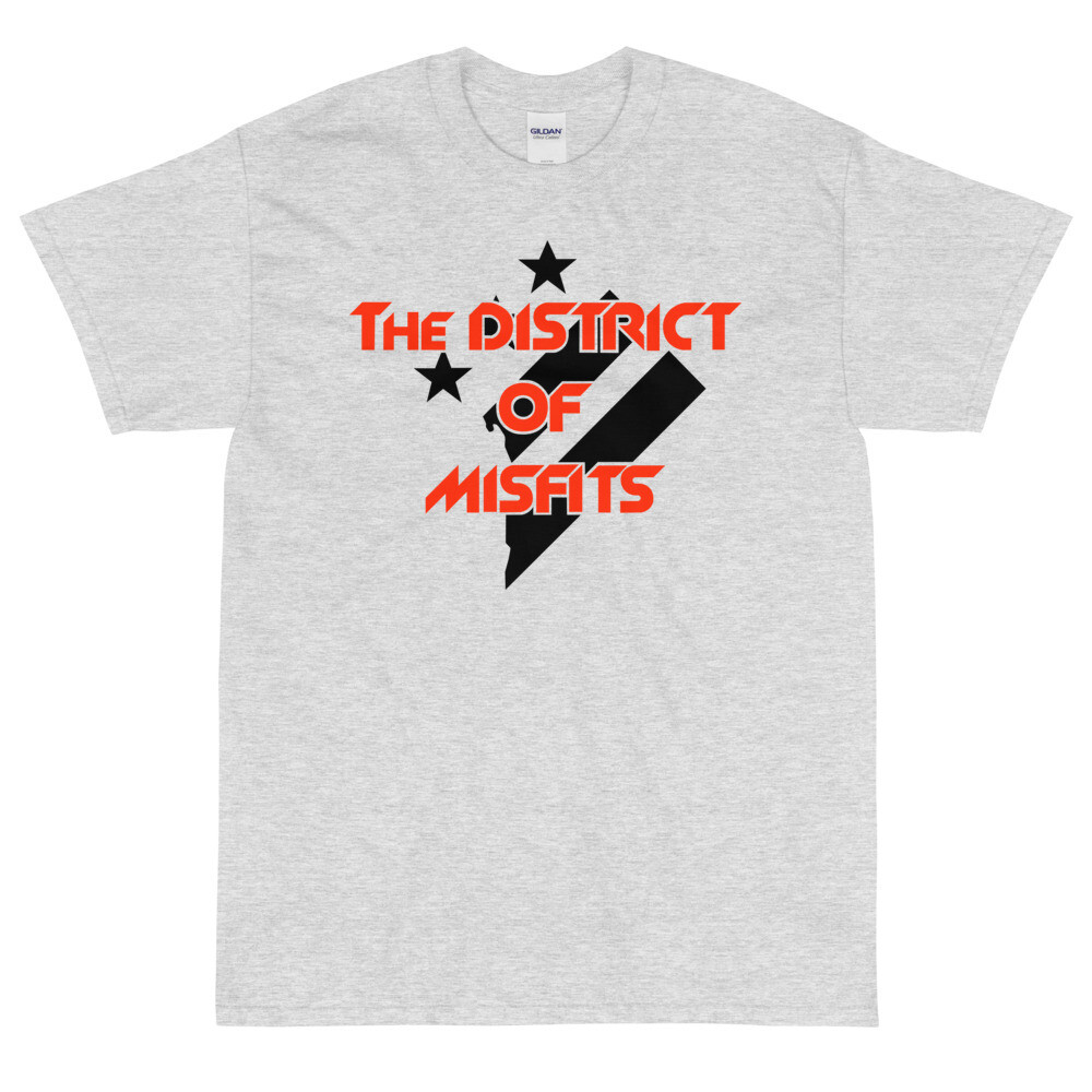 District of Misfits Short Sleeve T-Shirt (Heavyweight) Black Print