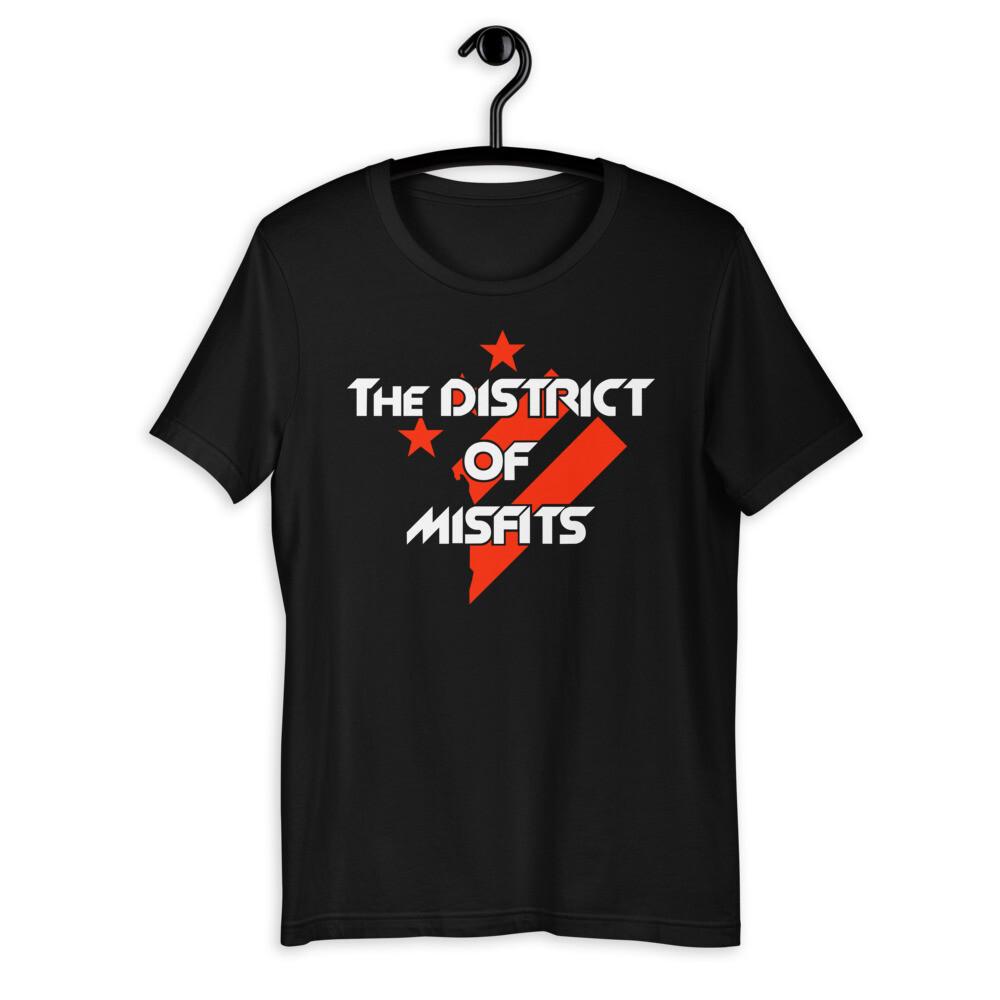 District of Misfits Bella + Canvas Short-Sleeve T-Shirt (White Print)