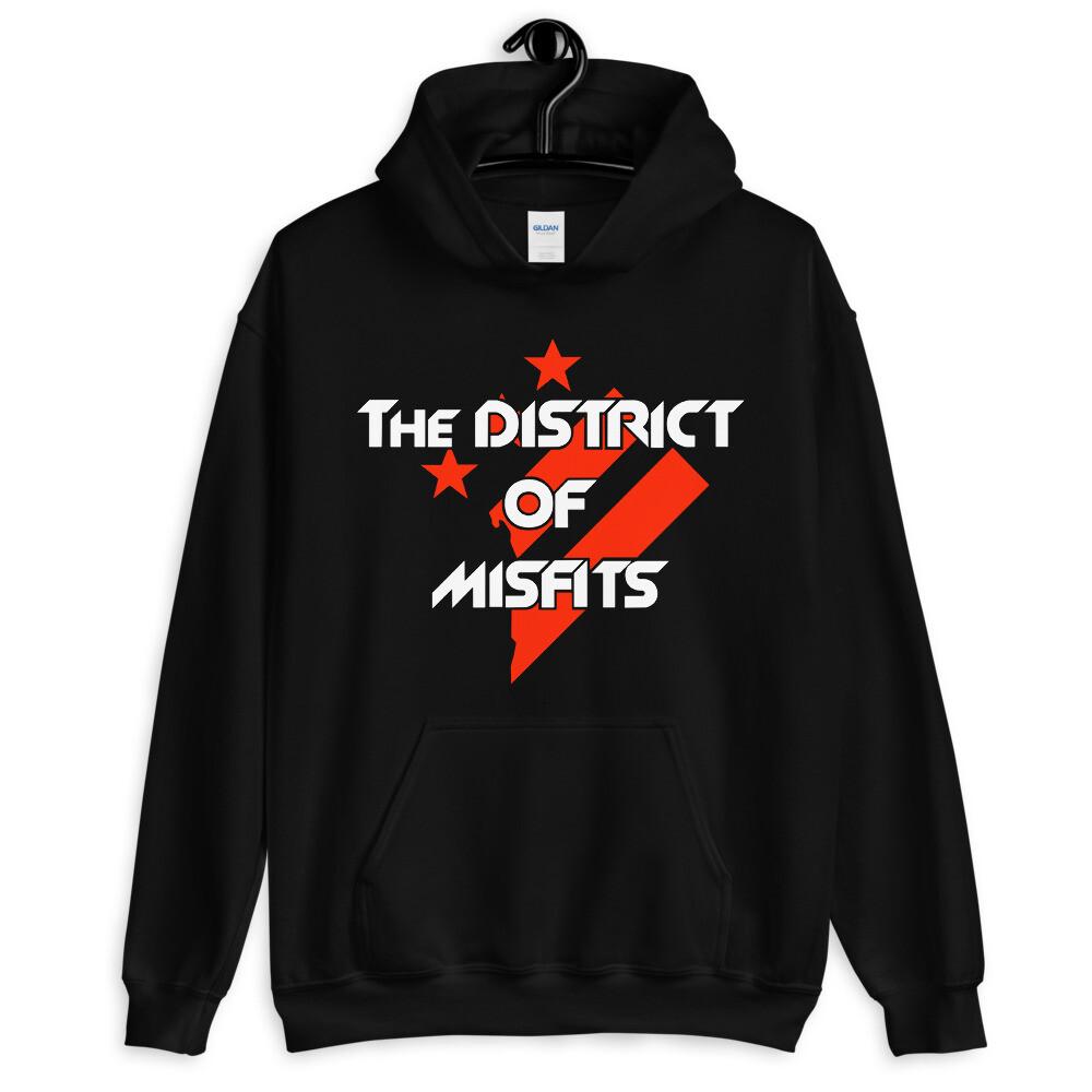 District of Misfits Hoodie (Red/White Print)