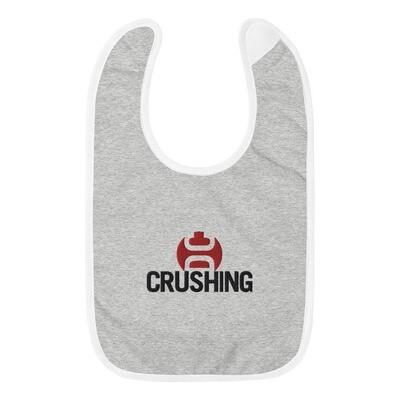 Crushing DC Embroidered Baby Bib