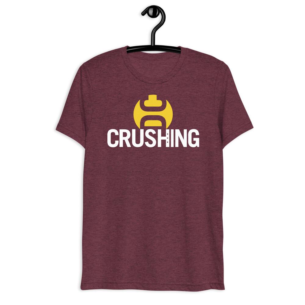 Burgundy & Gold CrushingDC Bella + Canvas Short-Sleeve Unisex T-Shirt