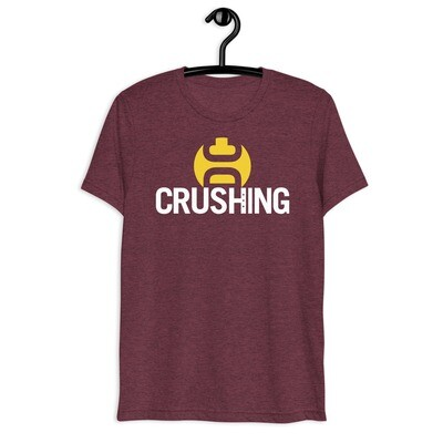 Burgundy & Gold CrushingDC Bella + Canvas Short-Sleeve Unisex T-Shirt