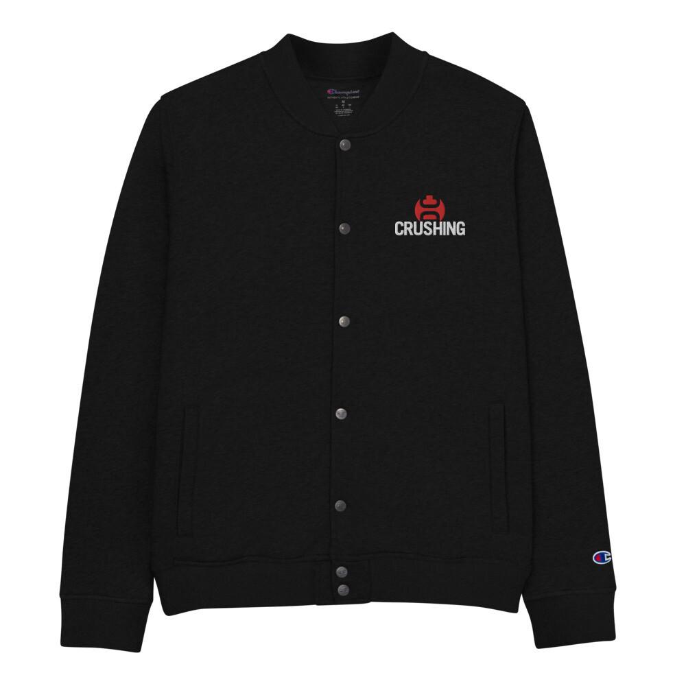 CrushingDC Embroidered Champion Bomber Jacket