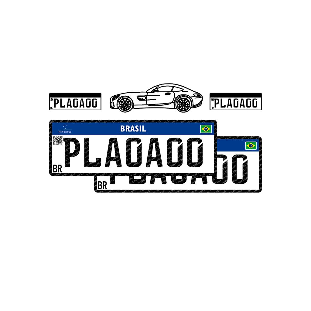 Placa Mercosul - Automóvel - Par