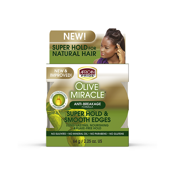 African Pride Olive Miracle Silk Smooth Edges