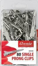 80 Ct Single Prong Clips