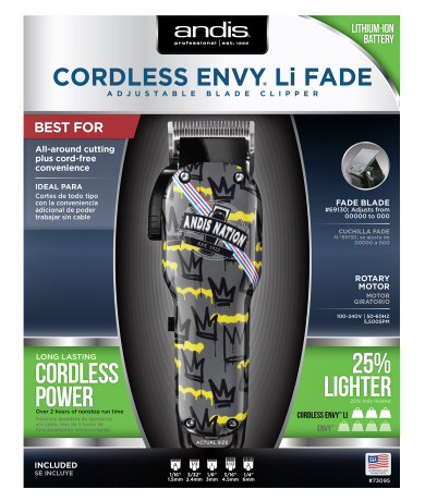 Andis Cordless Envy Li Andis Nation Edition