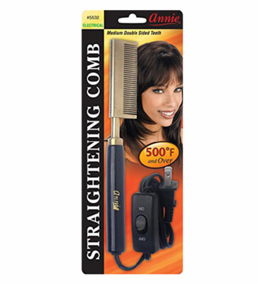 Annie Medium Double Sided Teeth Straightening Comb