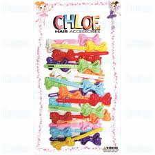 Chloe Barrette Creamy Ribbon White Clear