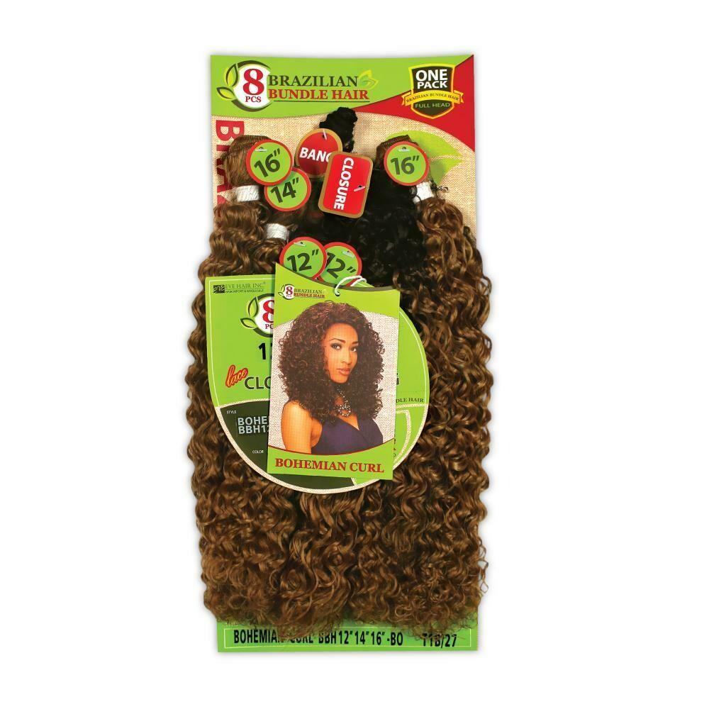 8pc Brazilian Bundle Bohemian Curl
